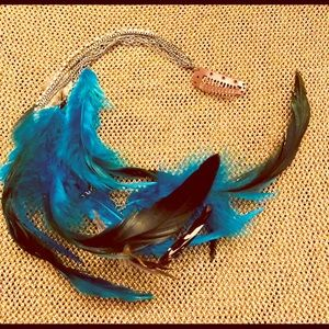 Feather Rhinestone Hair clip extension